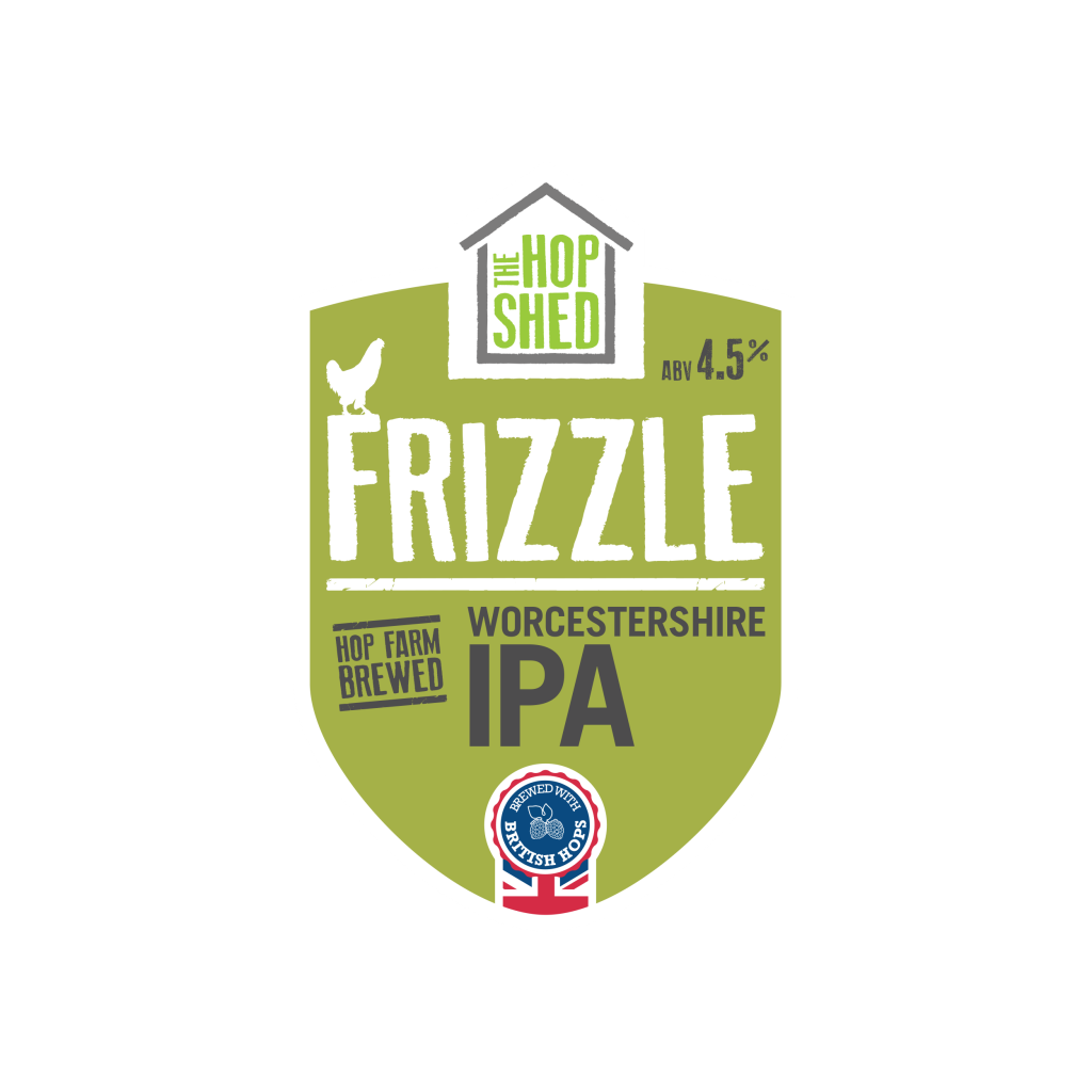 The Hop Shed Brewery Frizzle IPA Pump Clip Square Image