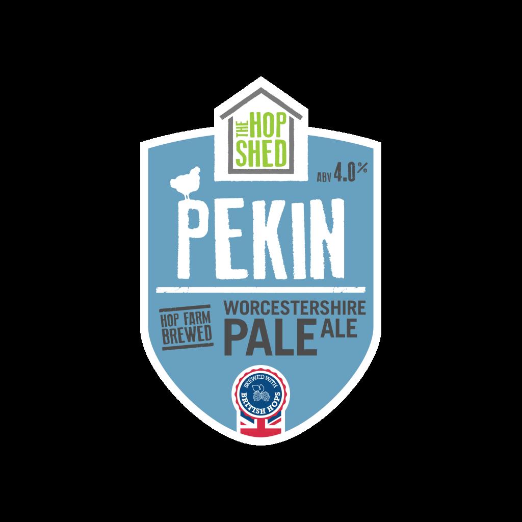 Pekin Pale Ale Pump Clip Square Image The Hop Shed Brewery