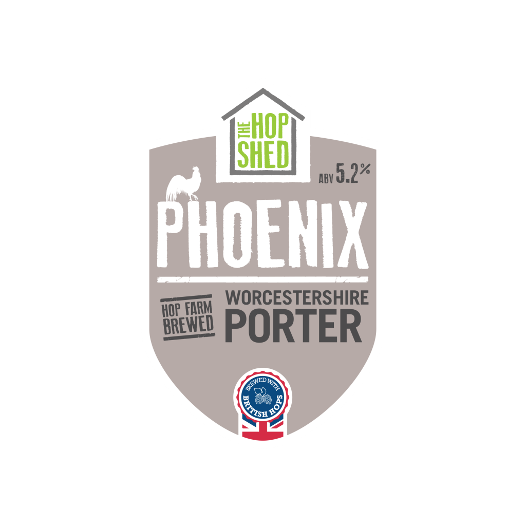The Hop Shed Brewery Phoenix Porter Pump Clip Square Image