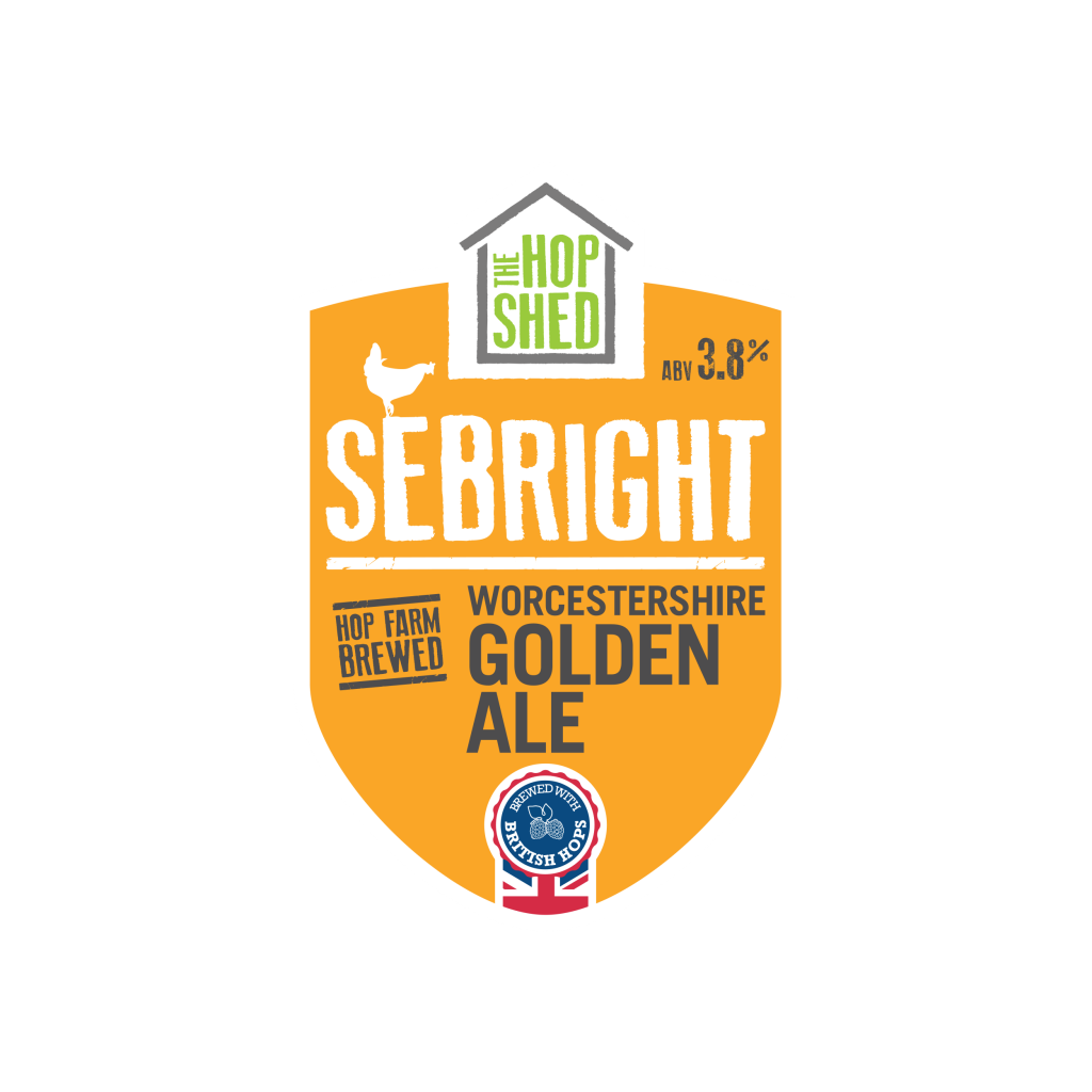 The Hop Shed Brewery Sebright Golden Pump Clip Square Image