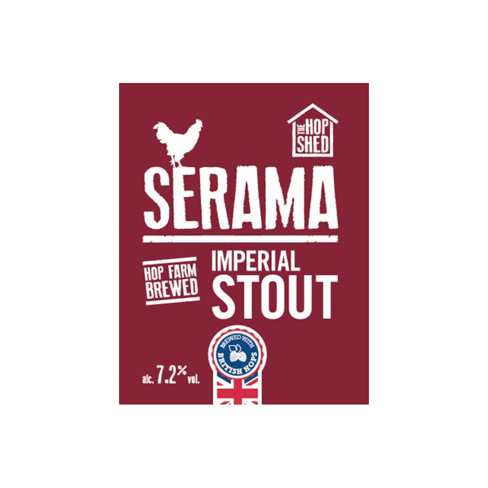 The Hop Shed Brewery Serama Stout Pump Clip Square Image
