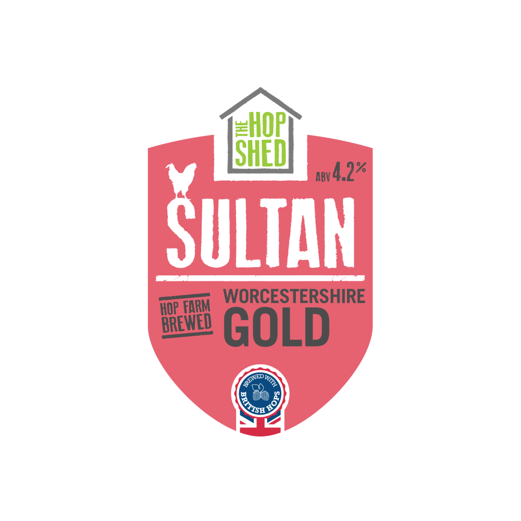 The Hop Shed Brewery Sultan Gold Pump Clip Square Image