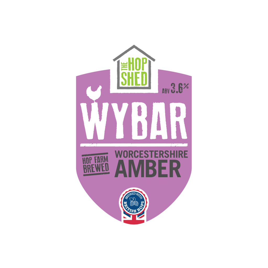The Hop Shed Brewery Wybar Amber Pump Clip Square Image