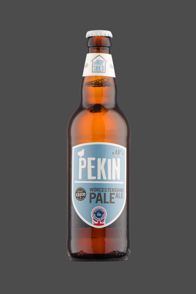 Pekin Pale Ale The Hop Shed Brewery Bottled Beer on Dark Grey