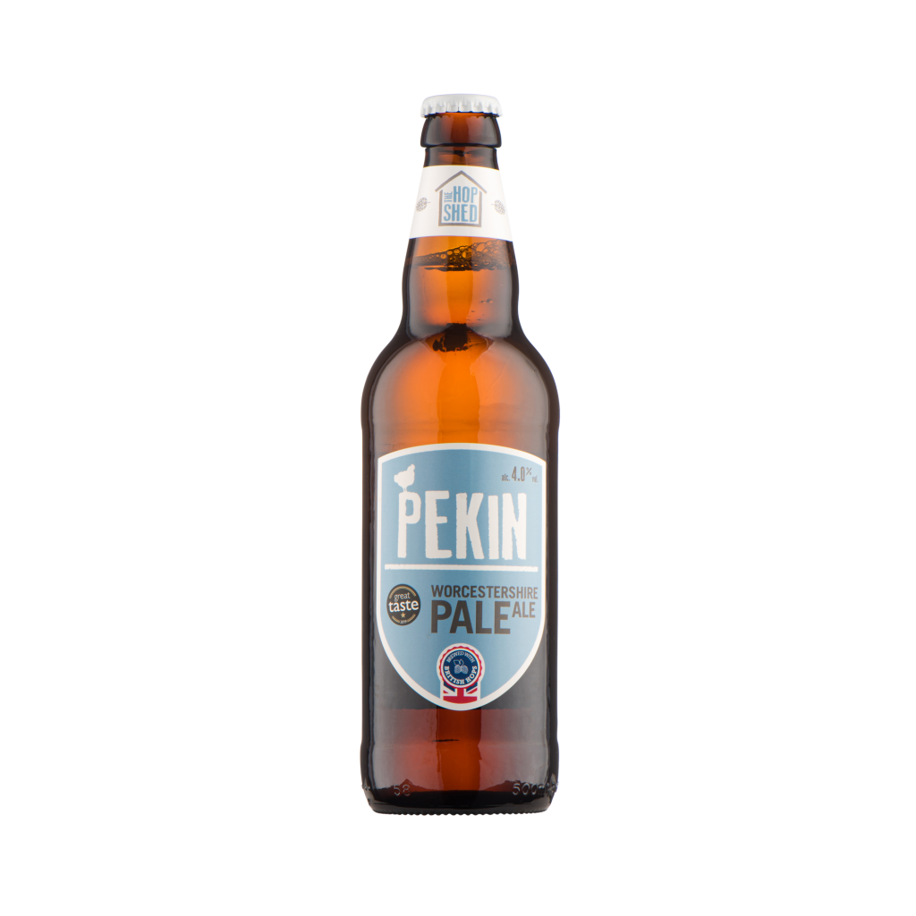 Our Beers The Hop Shed Brewery Pekin Pale Bottled Beer Square image