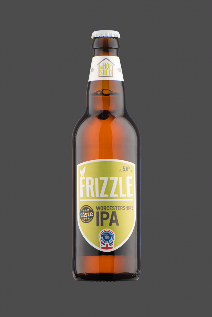 Frizzle IPA The Hop Shed Brewery Bottled Beer on Dark Grey