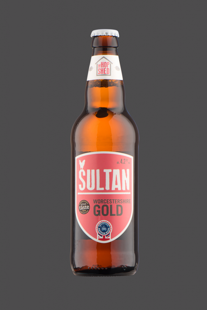 Sultan Gold The Hop Shed Brewery Bottled Beer on Dark Grey