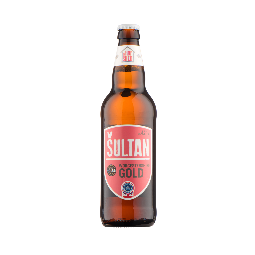 Our Beers The Hop Shed Brewery Sultan Gold Bottled Beer Square image