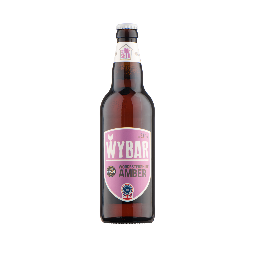 Our Beers The Hop Shed Brewery Wybar Amber Bottled Beer Square image