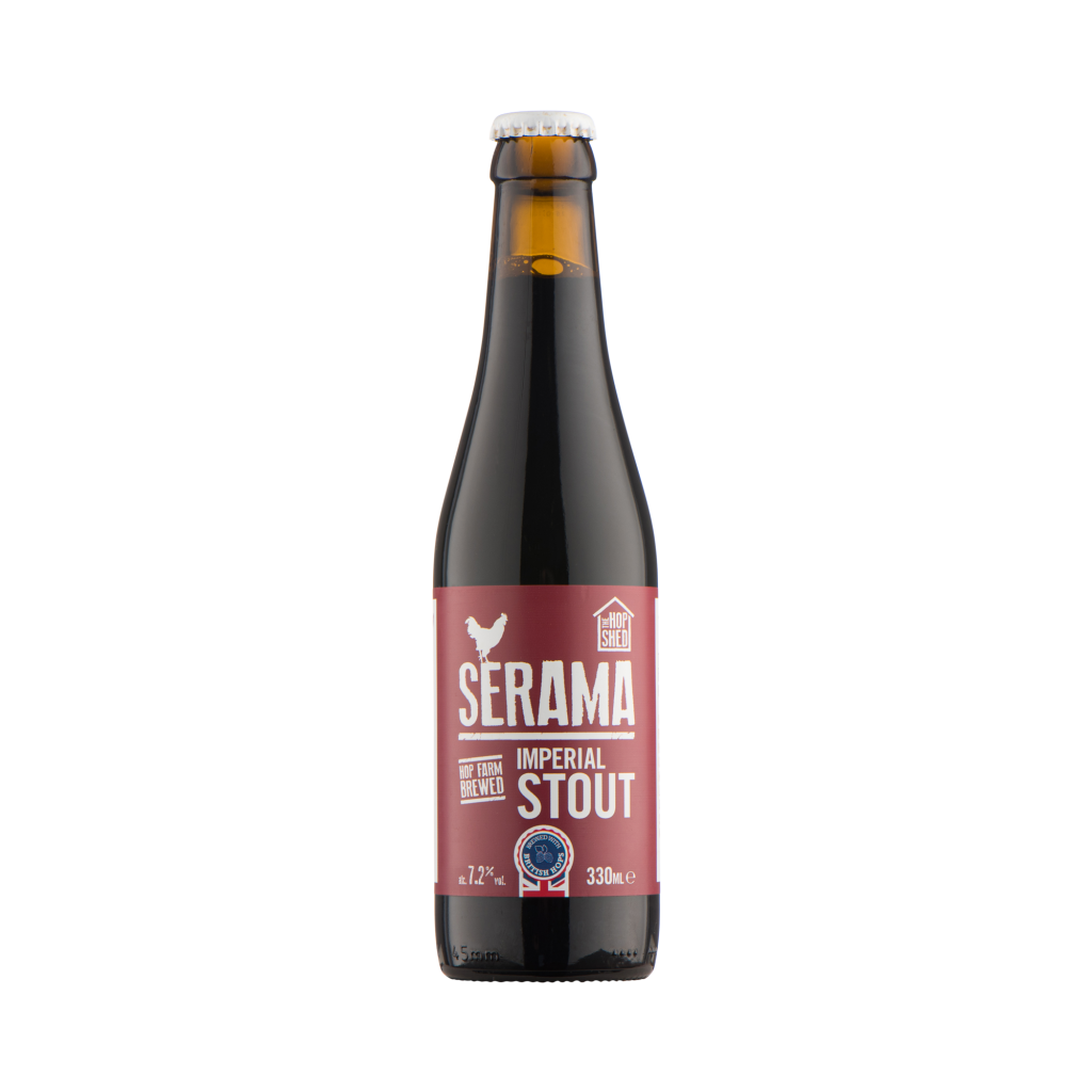 Our Beers The Hop Shed Brewery Serama Stout Bottled Beer Square image