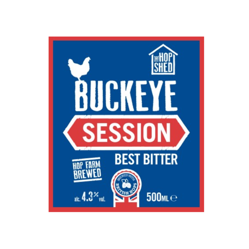 The Hop Shed Brewery Buckeye Best Bitter Label Square Image