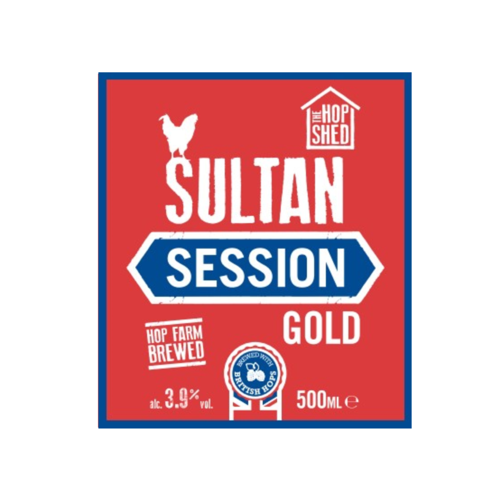 The Hop Shed Brewery Sultan Gold Label Square Image